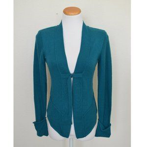 Nanette Lepore Cashmere Cardigan Teal Turquoise